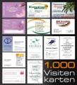1.000 Visitenkarten 4/4-farbig, inkl. Satz / Gestaltung