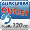 Aufkleber Outlet, 1-zeilig 120cm