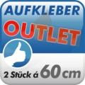 Aufkleber Outlet, 2 Stück 60cm