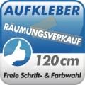 Aufkleber Räumungsverkauf, 1-zeilig 120cm