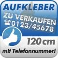Aufkleber Zu Verkaufen + Telefonnummer 120cm