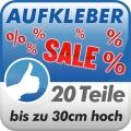 Aufkleberset Sale%, 20 Teile, 30cm hoch