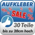 Aufkleberset Sale%, 30 Teile, 20cm hoch