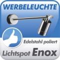 Edelstahl Werbeleuchte Enox