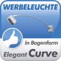 Elegante Werbeleuchte Curve