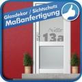 Glasdekorfolie für die Haustür