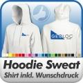 Hoodie Sweatshirt in Wunschfarbe inkl. Druck