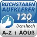 Klebebuchstaben A-Z, 120 Stück 3cm hoch