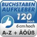 Klebebuchstaben A-Z, 120 Stück 6cm hoch