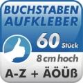 Klebebuchstaben A-Z, 60Stück 8cm hoch