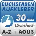 Klebebuchstaben A-Z, 30Stück 15cm hoch