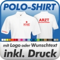 Polo-Shirt in Wunschfarbe inklusive Druck