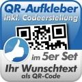 QR-Code Aufkleber 5 Stück 10x10cm