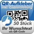QR-Code Aufkleber 50 Stück 10x10cm