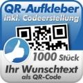 QR-Code Aufkleber 1000 Stück 3x3cm