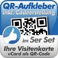 QR-Code Aufkleber Visitenkarte  5 Stück 10x10cm