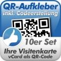 QR-Code Aufkleber Visitenkarte  10Stück 10x10cm