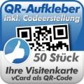 QR-Code Aufkleber Visitenkarte  50 Stück 10x10cm