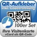 QR-Code Aufkleber Visitenkarte  100 Stück 5x5cm