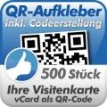 QR-Code Aufkleber Visitenkarte  500 Stück 3x3cm