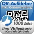 QR-Code Aufkleber Visitenkarte  1000 Stück 3x3cm