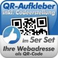 QR-Code Aufkleber Webadresse 5 Stück 10x10cm