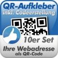 QR-Code Aufkleber Webadresse 10 Stück 10x10cm