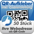 QR-Code Aufkleber Webadresse 50 Stück 10x10cm