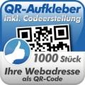 QR-Code Aufkleber Webadresse 1000  Stück 3x3 cm