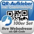 QR-Code Aufkleber Webadresse 100  Stück 5x5 cm