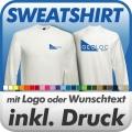 Sweatshirt in Wunschfarbe inklusive Druck