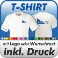 T-Shirt in Wunschfarbe inklusive Druck