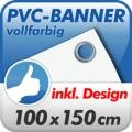 Werbebanner rundum geöst 100x150
