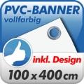 Werbebanner rundum geöst 100x400