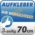 Wunschtext-Aufkleber, 3-zeilig 70cm